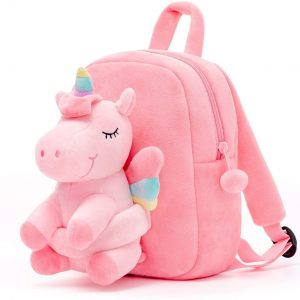 Conzy Kids Unicorn Plush Doll Toy Toddler Travel Bag Preschool Shoulder Backpack Toy for 3-8 Year Old Kindergarten Girls Gift