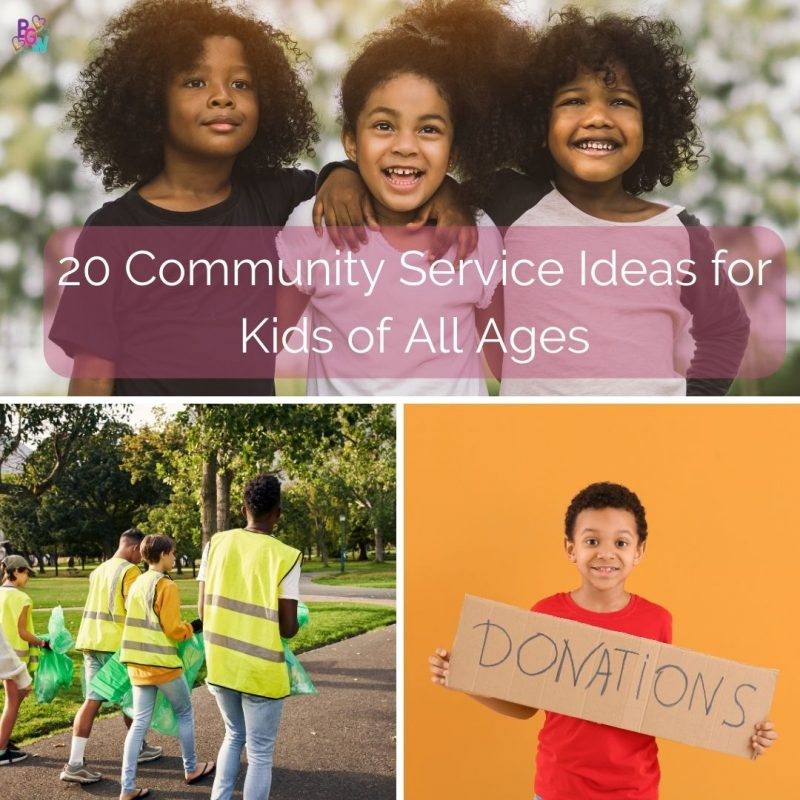 20 community service ideas for kids of all ages